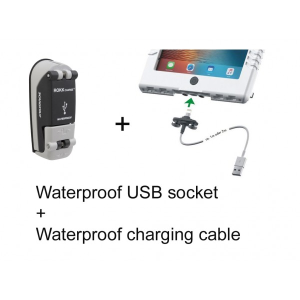 Waterproof USB double socket + aiShell cable