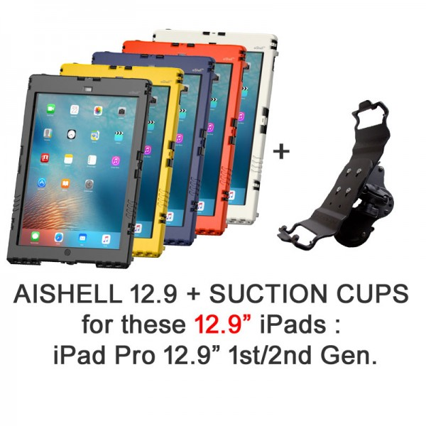 Pack AiShell Pro 12.9 + Double suction cup mount