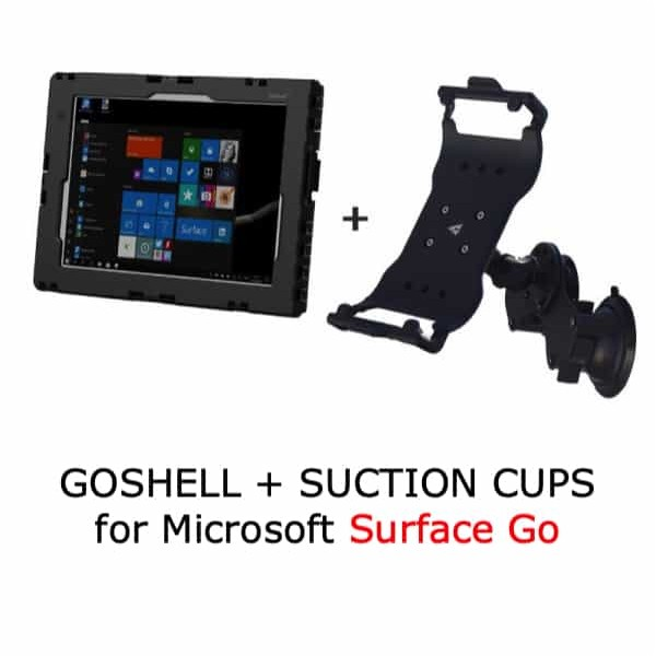 Pack GoShell + suction cups mount